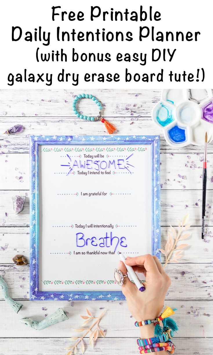 picture about Diy Daily Planner known as Day by day Intentions Planner Straightforward Do-it-yourself Dry Erase Board - Day-to-day