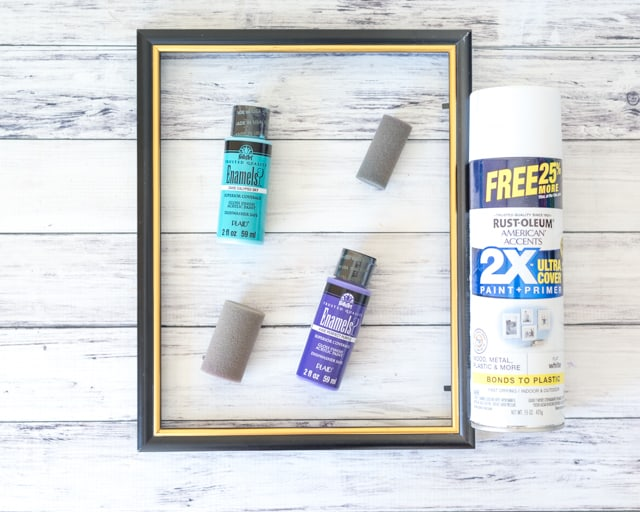 materials for easy DIY dry erase board