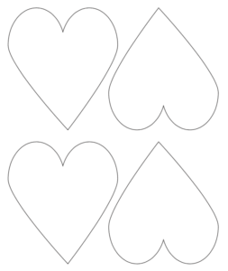 "4x4"" printable heart templates"