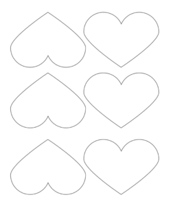graphic relating to Heart Printable referred to as 14+ Middle Template Printables - No cost Middle Stencils and