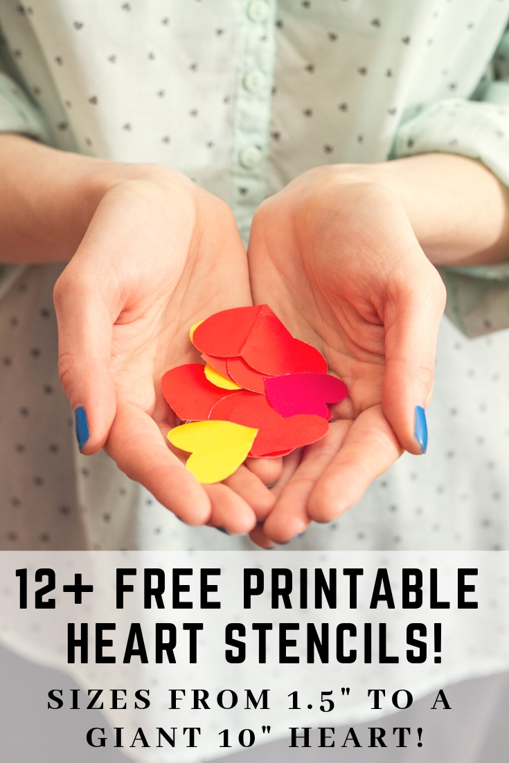 Free printable heart stencils for Valentine's Day. Free printable heart templates including an extra large heart template printable!