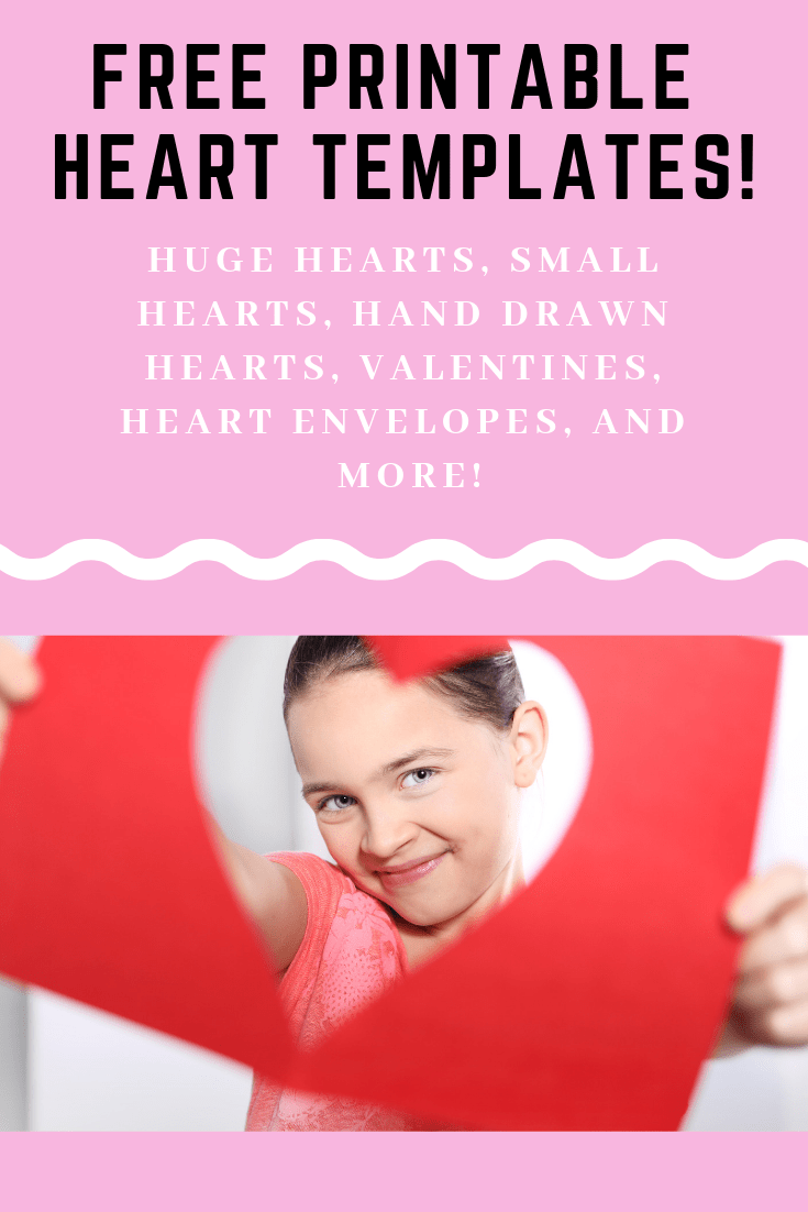 Free printable heart templates including an extra large heart template printable!