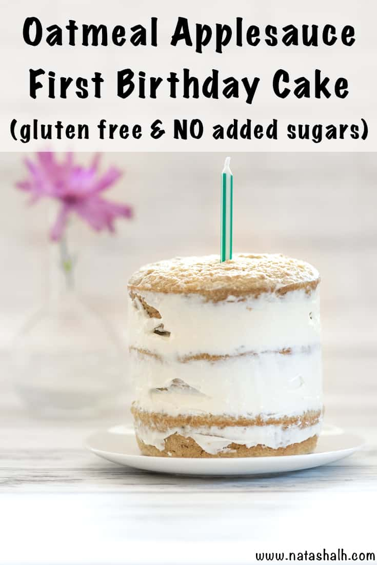 healthy smash cake recipe - gluten free and no added sugars