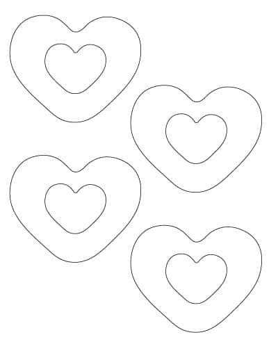 heart within a heart template