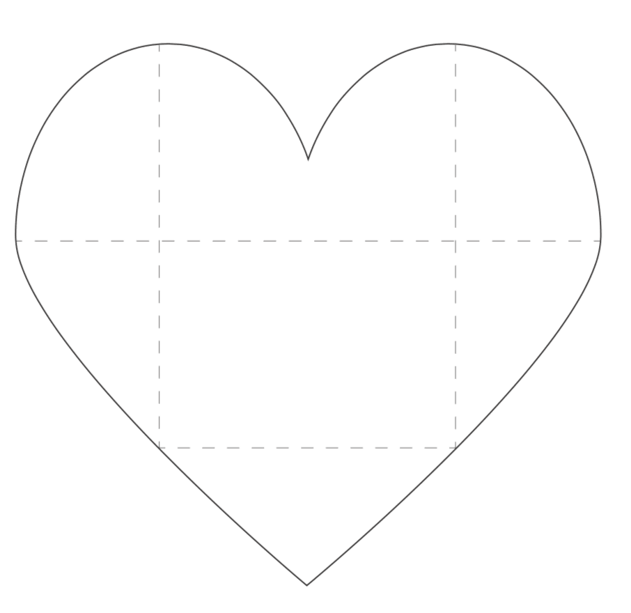 large printable heart envelope