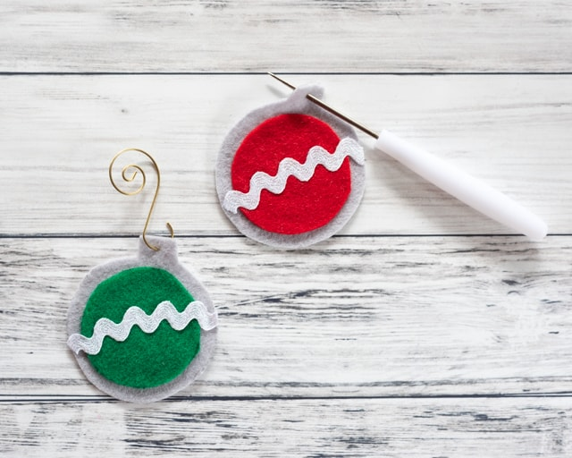 poke a hole to hang your felt ornament