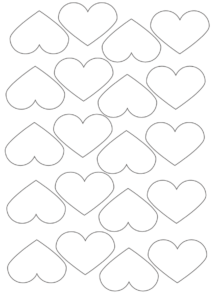 small printable hearts