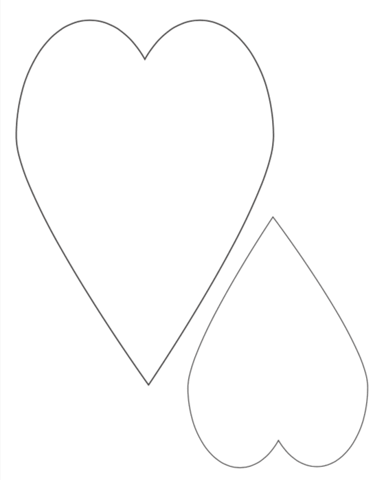 tall skinny hearts free printable templates