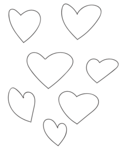 whimsical hand drawn hearts