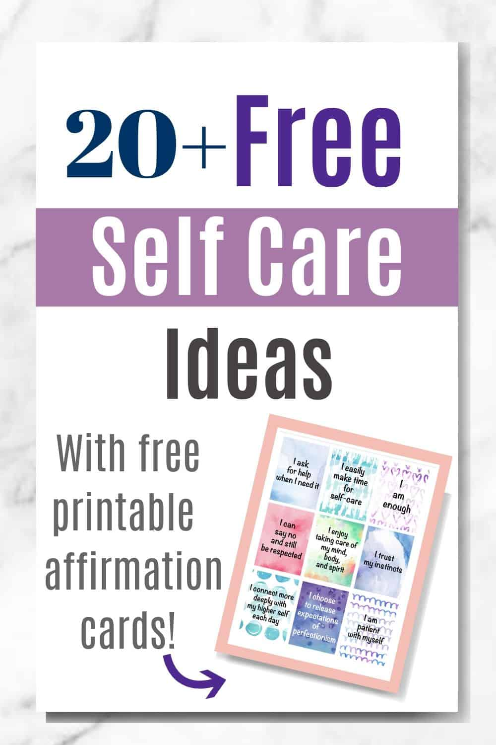 picture about Affirmation Cards Printable called No cost Self-Treatment Options for Overcome Mothers (moreover cost-free
