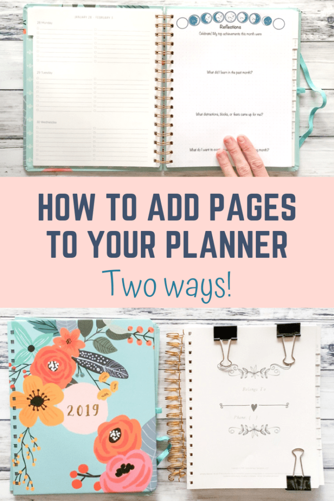 how to add pages to your planner two ways