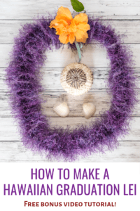 How to make a Hawaiian graduation lei - free bonus video tutorial!