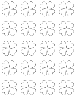 1.5 four leaf clover template