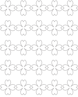 1.5 heart-shaped shamrock template
