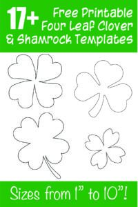 "17+ free printable shamrock templates from small to huge! Sizes range from 1"" up to 10""!"