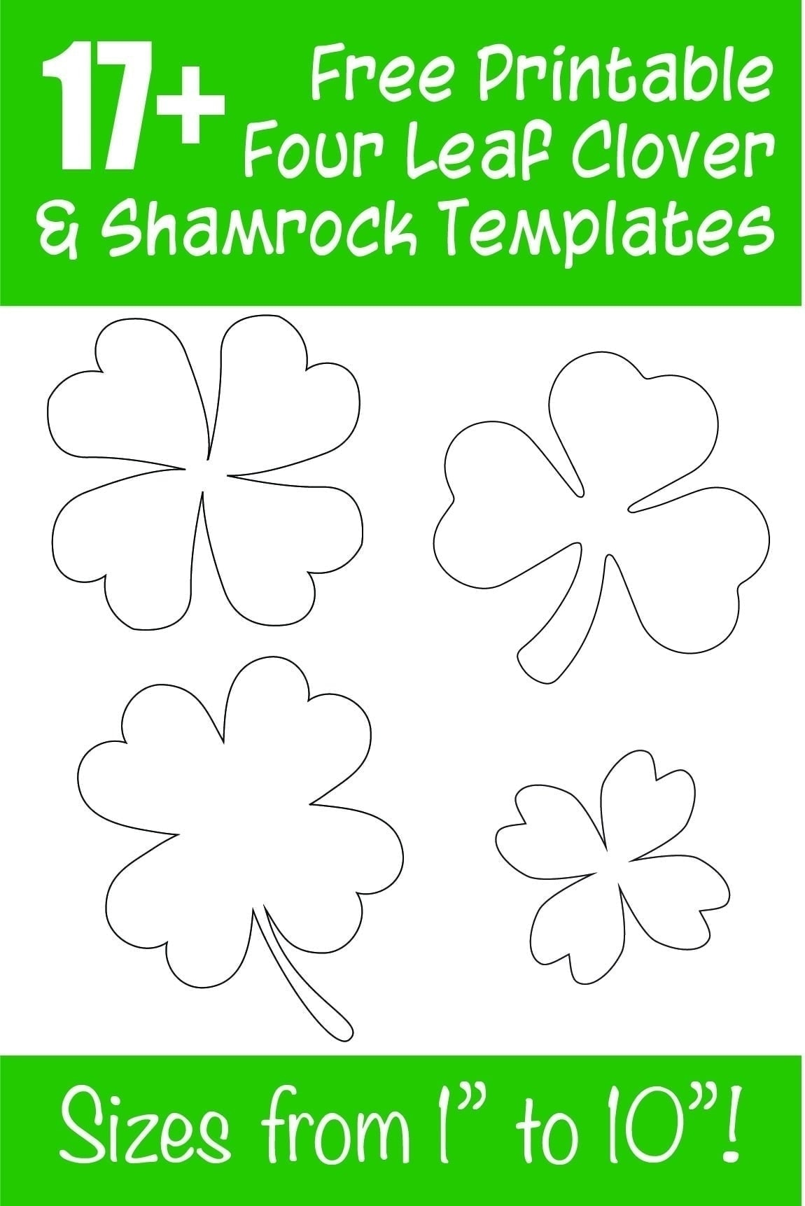 photo relating to Printable Shamrock Images titled 17+ Cost-free Printable 4 Leaf Clover Shamrock Templates