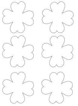 3 four leaf clover templates without stems