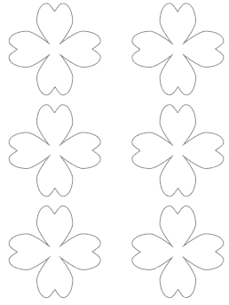 3 heart shaped shamrock free printable