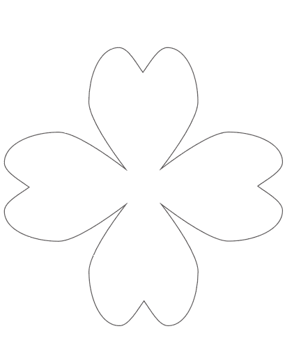 7.75 large shamrock template