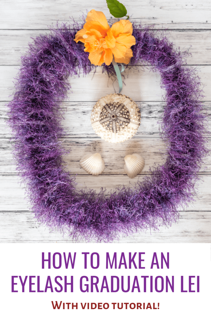 How to make an eyelash graduation lei with video tutorial