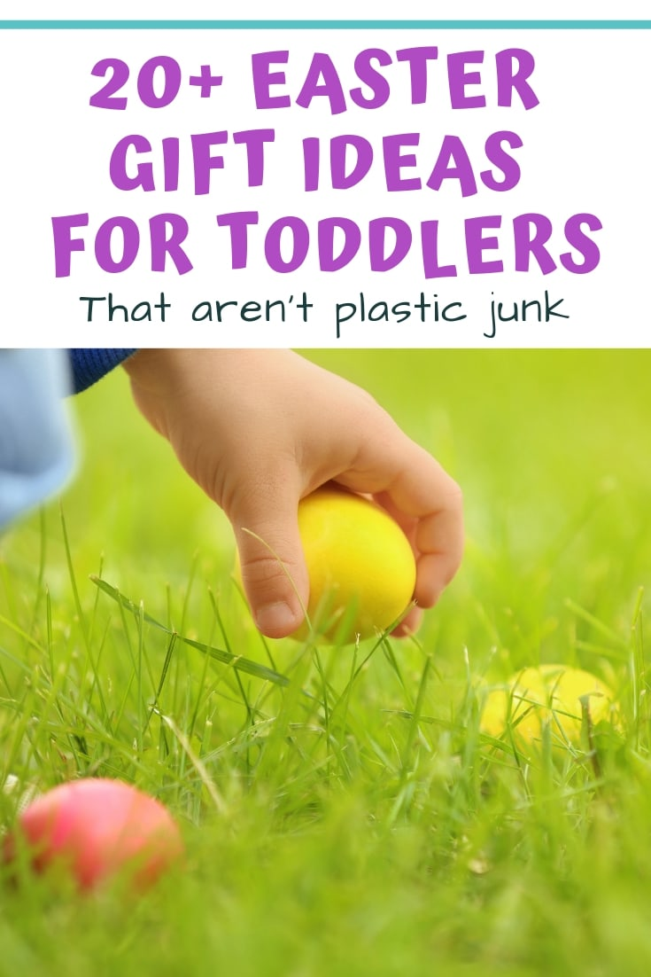 These Easter gift ideas for toddlers aren't plastic junk! Discover affordable Easter basket stuffers for toddlers that aren't junk.