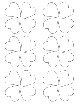 stylized four leaf clover template medium