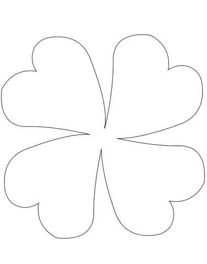 stylized large four leaf clover teamplate