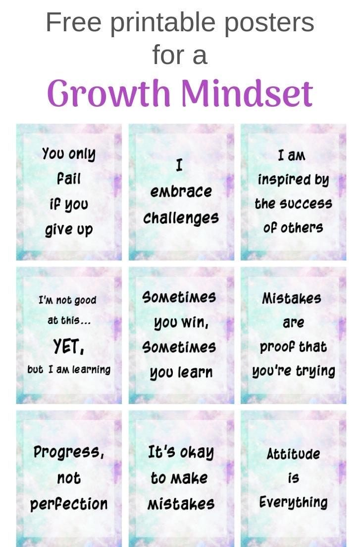 Growth Mindset Poster Free Printables
