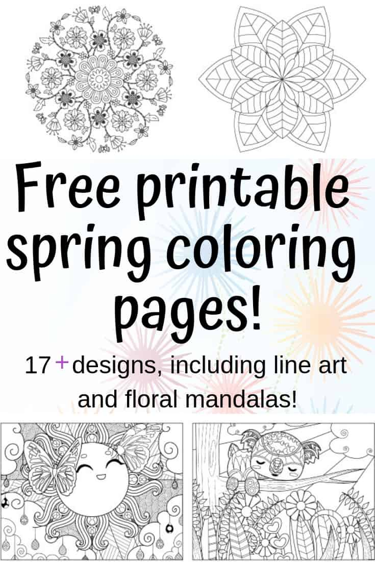 picture about Printable Spring Coloring Pages named Spring Coloring Web pages - No cost Printable Spring Grownup Coloring