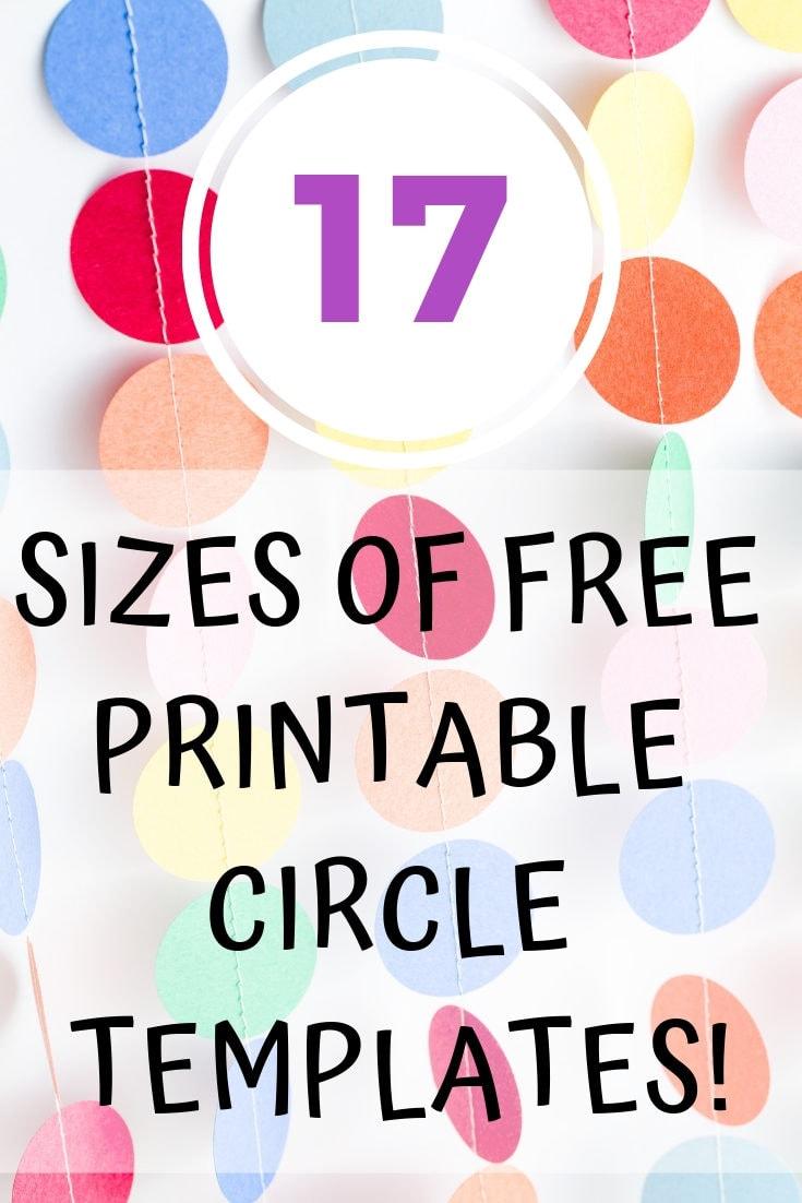 Free Printable Circle Templates - Large and Small Circle Stencils