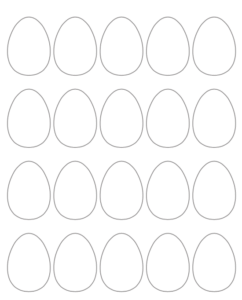 2 blank Easter egg printables