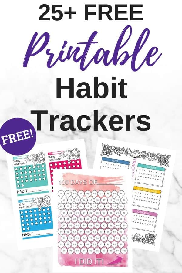 25+ Free Habit Tracker Printables