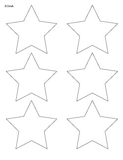 photo relating to Star Printable Cutouts called 25+ No cost Printable Star Templates ( far more major star