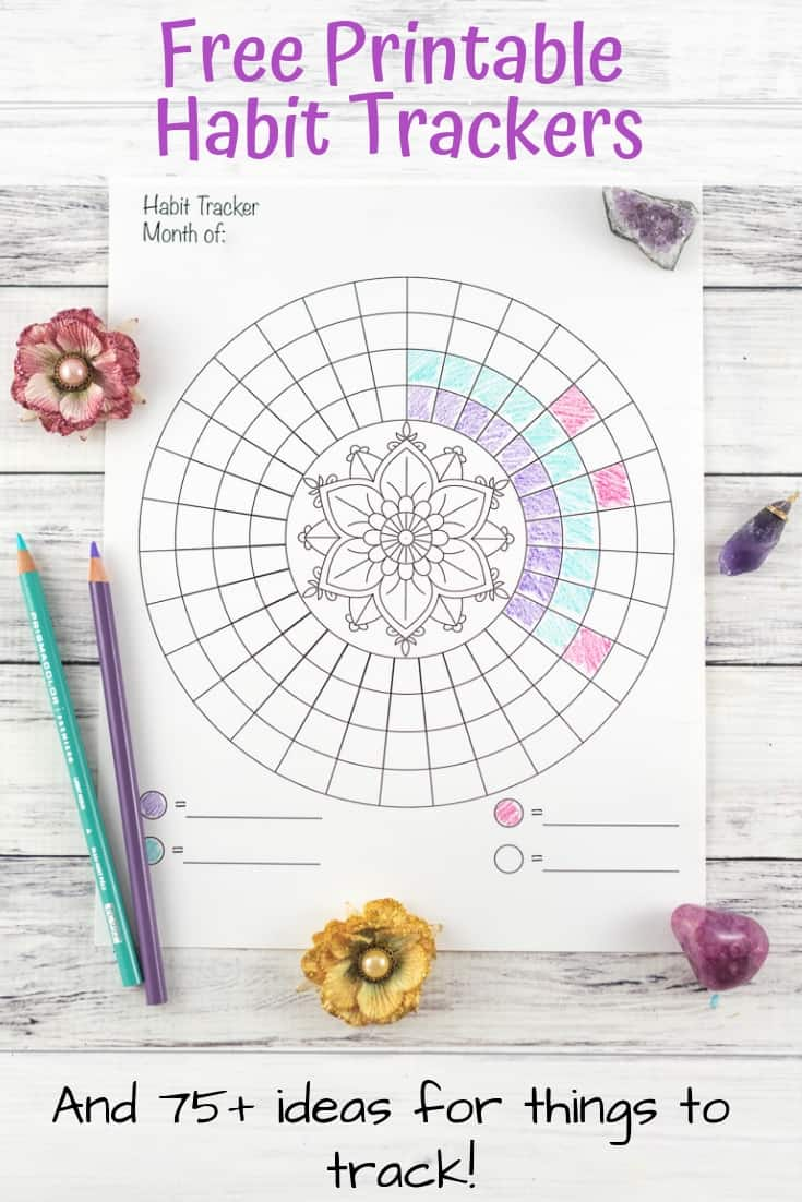 Free Printable Habit Trackers and ideas for things to track