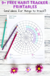 Free habit tracker printables - circular mandala habit tacker