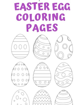 Free printable Easter egg coloring pages