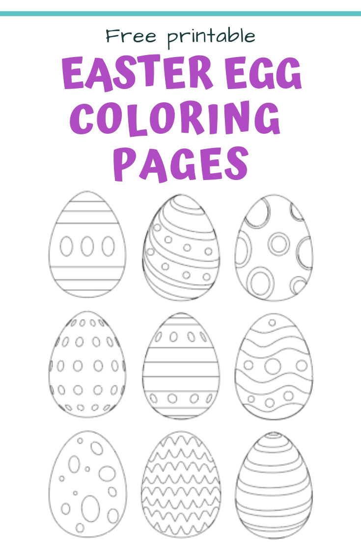 25+ Free Printable Easter Egg Templates & Easter Egg Coloring Pages