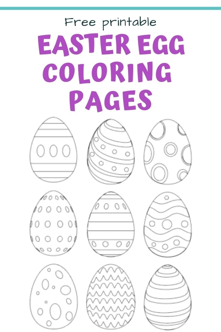 25+ Free Printable Easter Egg Templates & Easter Egg Coloring ...