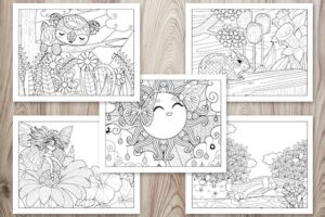 21+ Spring Coloring Pages - Free Printable Spring Adult Coloring Pages