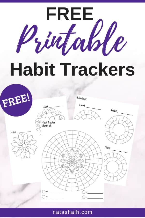 free printable habit trackers preview