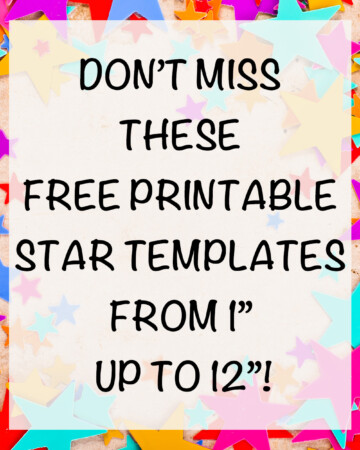 """free printable star templates from 1"""" to 12"""""""