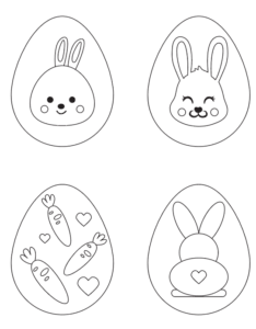 preview of Easter egg free printable coloring pages with bunnies