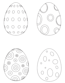 preview of Easter egg free printable coloring pages with circles