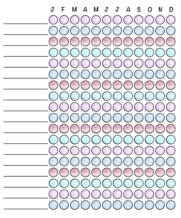 preview of free printable habit tracker printable - monthly checklist. Click through for more!