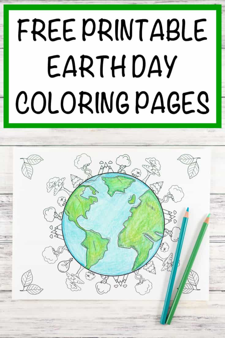 20+ Earth Day and Environmental Coloring Pages