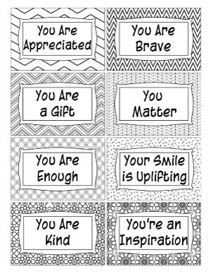 free printable complement cards