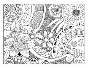 earth-day-floral-coloring-page