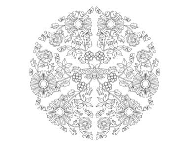 mandala-with-butterflies