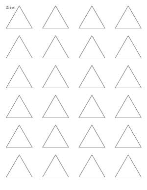 picture about Triangle Printable called Totally free Printable Triangle Templates - The Artisan Existence