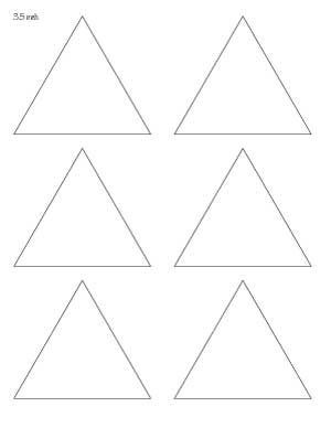 3.5 inch triangle template